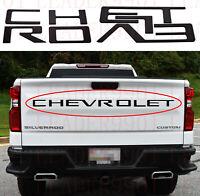 Matte Black Letters Inserts for Chevrolet Silverado HD 2019 2020 Tailgate