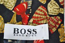 HUGO BOSS Men's Neck Tie BOWTIE PRINT 100% Silk Black Blue Yellow Red Novelty