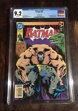 Batman Comic 497 CGC 9.2! 2nd Print! Bane Breaks Batman's Back⭐️⭐️⭐️