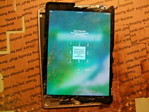iPad Air 2 LCD A1566 A1567 Cracked Screen **GOOD DISPLAY & TOUCH* OEM APPLE #3