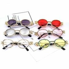Vintage Round Small Diamond Sunglasses UV400 Fashion Women Colourful Rhinestone
