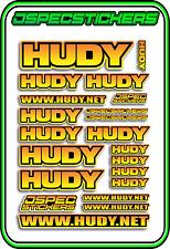 HUDY TOOLS SETUP STICKERS XRAY RC BUGGY CAR DECAL 1/10 1/8 JSPEC ELEC YEL ORA B