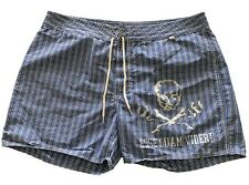 RUGBY RALPH LAUREN MEN'S BLUE BEACH SHORTS, 38 XXL, $85
