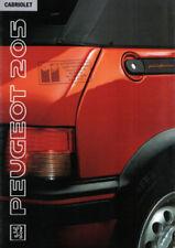 205 Paper 1990 Car Sales Brochures