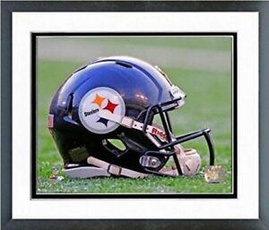 "Pittsburgh Steelers Football Helmet Photo (Size: 12.5"" x 15.5"") Framed"