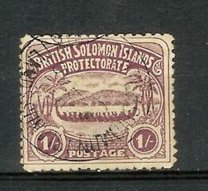 BRITISH   SOLOMON   ISLANDS   SALOMONEN   1907   ONE   SHILLING