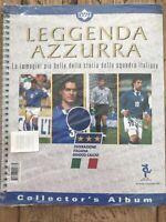 Upper Deck Leggenda Azzurra Football Card Collecters Album. New Unopened