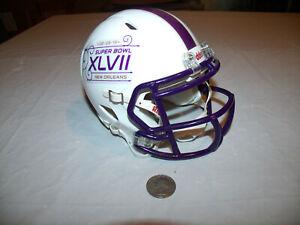 Super Bowl XLVII 2013 Riddell White Mini Football Speed Helmet Baltimore Ravens