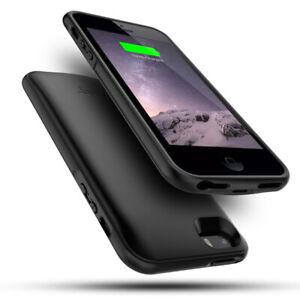 Akkuhülle Powerbank 4000mAh Handyhülle Ladegerät Case Hülle für iPhone SE 5 5S