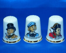 Birchcroft Thimbles - Set of Three - Dickens Characters