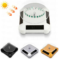 Solar Powered 360° Rotating Turntable Display Stand for Jewelry Watch Ring Phone