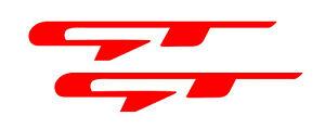 2 Aufkleber für Kia GT GROSS 120 x19 mm für Proceed Ceed Stinger Optima GT-Rot