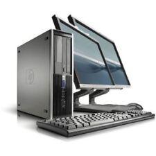 """Fast HP 8300 Quad Core i5 Windows 10 19"""" Dual Monitor 240Gb SSD 8Gb Desktop"""