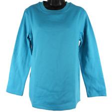 New Comfort Corner Aqua Blue Long Sleeve Sweatshirt Women's Size Medium