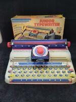 Vintage 1950s Marx Toys Junior Typewriter Tin Litho It Works !