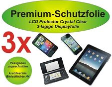 3x Premium-Schutzfolie 3-lagig Motorola Razr i - XT890 - kristallklar blasenfrei
