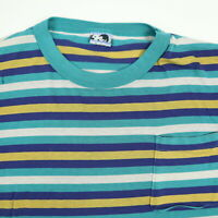 Destroyed Vtg 90s Todays News T-Shirt 3XL Surf Striped Distressed Single Stitch