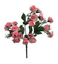 20 Mini Open Roses ~ LIGHT PINK ~ Silk Wedding Flowers Bouquets Centerpieces