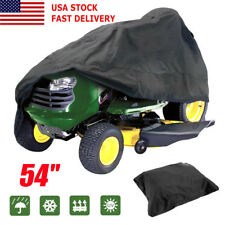 54' Heavy Duty Tractor Cover Riding Lawn Mower Garden Yard Weather Protect Black