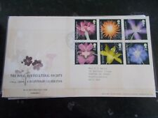 ROYAL MAIL FIRST DAY COVER - ROYAL HORTICULTURAL SOC. - WISLEY FRANKED 25-5-2004