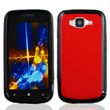 For Samsung Focus 2 i667 TPU Gel GUMMY Hard Skin Case Phone Cover Red Black