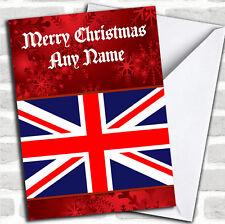 British Flag / Union Jack Christmas Customised Card