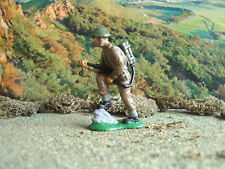 Vintage World war 2 Crescent British soldier with flame thrower 60mm painted