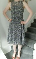 Warehouse Printed Pleated Midi Dress size 12 BNWT - Wedding Prom Party