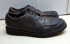 Rockport Waterproof Mens Leather Brown Oxford Lace Up Split Toe Dress Shoes 12W