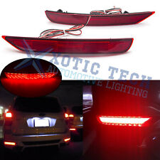 For Subaru Forester 2009-2018 72-SMD LED Red Lens Bumper Reflector Brake Lights