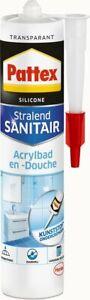 Pattex Sanitär Silikon Dusche & Bad Acrylbad Transparent 300ml