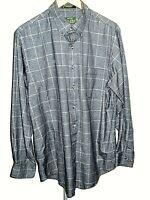 Orvis Men's Plaid Long Sleeve Button Down Cotton Flannel Shirt Size Large