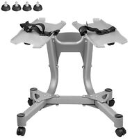 SelectTech Adjustable Dumbbell Stand with Built-In Towel Rack Silver
