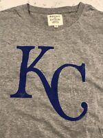 NWT Kansas City Royals Shirt Mens T-Shirt Size XL Heather Grey Retro Throwback