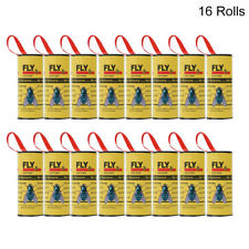 16Pcs Insect Bug Fly Glue Paper Catcher Trap Ribbon Tape Strip Sticky Flies Roll