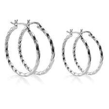 Threader Hoop Sterling Silver Fine Earrings