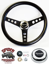 "1970-1972 Satellite steering wheel PLYMOUTH 13 1/2"" CLASSIC BLACK steering wheel"