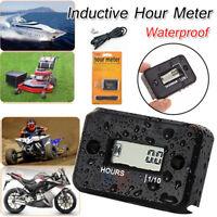 Digital Hour Meter Waterproof LCD Display Timer for Bike Motorcycle Marine Boat