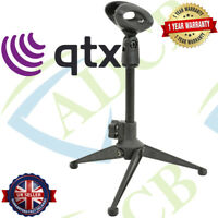 Small Desk/Table Top Microphone Stand Mic Tripod Clip Holder Foldable Adjustable