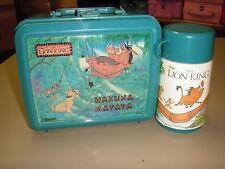 "1992 Disney's The Lion King ""Hakuna Matata"" Plastic Lunchbox W/Thermos Aladdin"