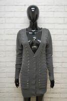 GUESS Maglione Taglia S M Lana Cardigan Donna Pullover Sweater Woman Grigio