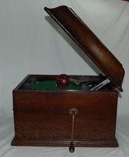 Original His Master's Voice Tisch-Grammophon HMV + Album m. Schellackplatten