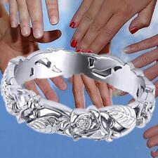 Vintage-Schmuck Damen 925 Sterling Silber Blatt Floral Bridal Ring