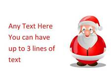 195 Personalised Christmas Address Stickers Labels Santa 2for3 Invitation xmas