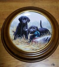 Franklin Mint Beginners Luck Labradors Limited Edition Collector Plate w/ Frame
