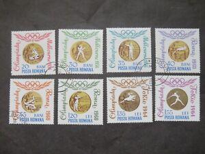 1964 Rumänien Mi-Nr. RO 2345-2352 Komplettsatz gestempelt Olymp. Spiele Gewinner
