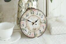 Wanduhr klein Rosen Rose Uhr Clock Shabby Chic Vintage Landhaus