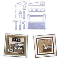 Brief 12pcs Necessities in Tool Box Cutting Dies DIY Scrapbooking Photo Craft Pg