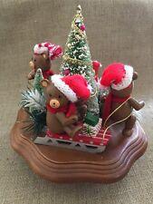 Vintage Christmas Schmid Music Box Bear Family