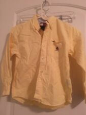 Tommy Hilfiger Boy's Dress Casual Button Front Shirt Top Sz 7 Yellow Clothes